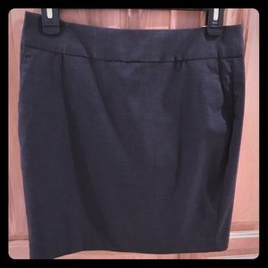 Dark Gray Work Skirt